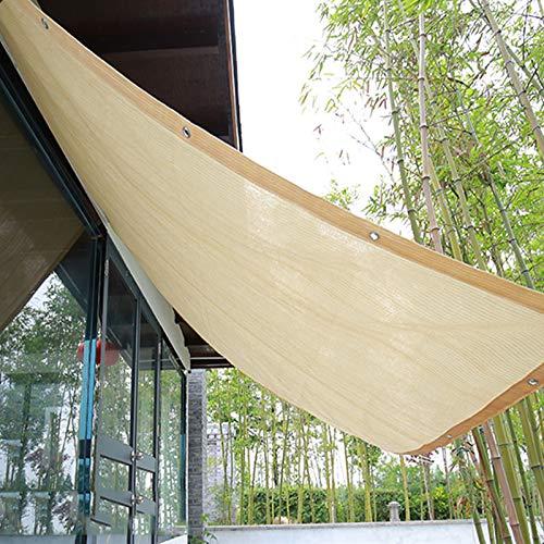 Garden Sonnenschutz Gewebe Netz,Beige Schattiernetz,Hochleistungs-Sichtschutz,Anthrazit,85% UV-Block,mit Ösen Schattiergewebe,für Patio Backyard Carport,Anpassbare (2x4m)