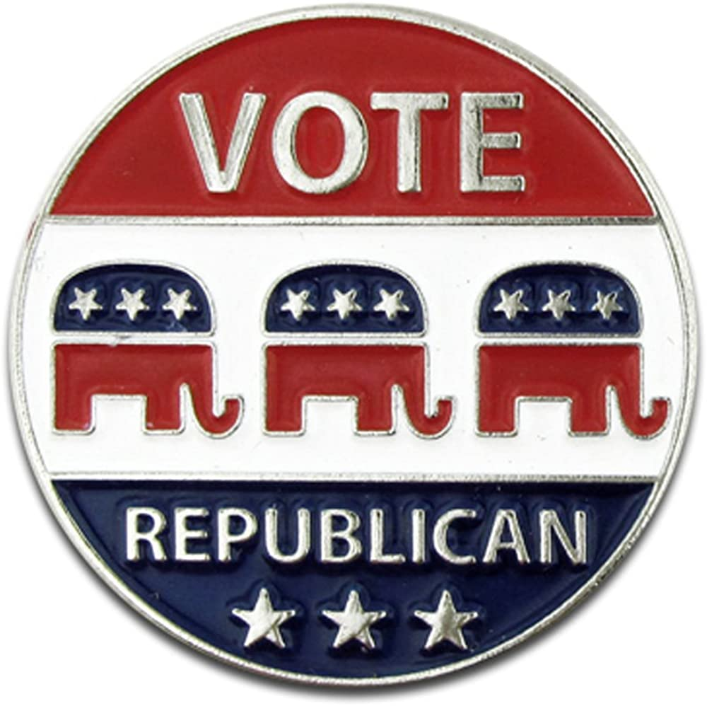 PinMart Vote Republican Elephant Political Patriotic Lapel Pin