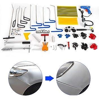 Keenso Tools Car Body Paintless Dent Kit di riparazione Paintless Dent Repair Car Dent Repair Car Repair Kit di ammaccatura con Dent Puller Kit 100-240V