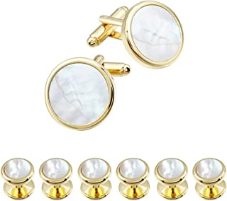 Best mother of pearl cufflinks gold Reviews