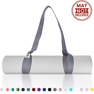 Tumaz Yoga Mat Strap [MAT NOT Included] (15+ Colors, 2 Sizes Options) with Extra Thick, Durable and Comfy Delicate Texture | The Must-Have Multi-Purpose Strap/Carrier for Your Yoga Mat, Exercise Mat