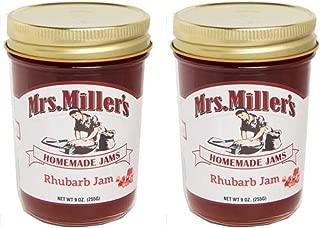 Mrs. Miller's Homemade Jams Homemade RHUBARB Jam 9 Ounce - 2 Pack