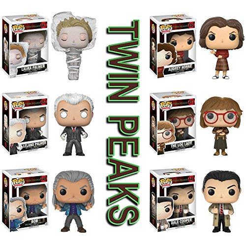Pop! Television: Twin Peaks Laura Palmer, Dale Cooper, Bob, Audrey Horne, Log Lady, and Leland Palmer! Vinyl Figures Set of 6