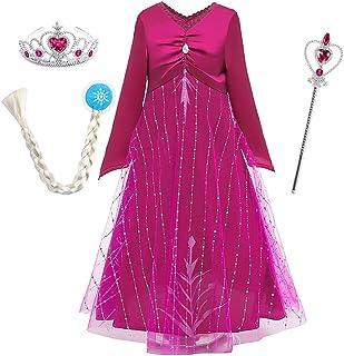 OwlFay Disfraz de Princesa Carnival para Niñas Vestidos de Fiesta Navidad Halloween Cosplay Costume Outfit Rosa 11-12 Años