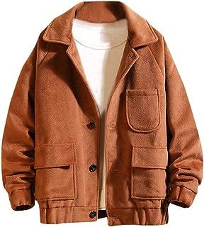 Mens Short Wool Blend Coat Tweed Outerwear Winter Jacket Thicken Outerwear
