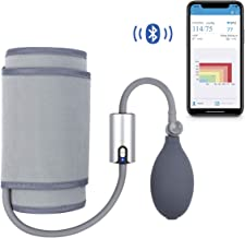 Wireless Bluetooth Upper Arm Blood Pressure Monitor W/Free Professional APP, Wide Range Large Cuff, Ultra Portable BP Monitors Mobile Health Monitoring for Home Travel Use