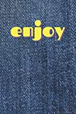 """Blue Jeans """"Enjoy"""" Patch Notebook for a Stylish Gift: cool and clean multi-purpose notebook for fash..."""