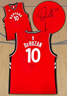 DeMar DeRozan Autographed Jersey - Red Replica - Autographed NBA Jerseys