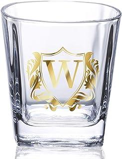 Onebttl Whisky gläser mit Initial, Whiskyglas, Perfekt für Papa, Weihnachten & Geburtstagsgeschenke