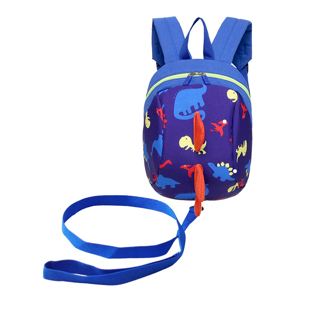Samloong Toddler Backpack with Leash Harness, Adorable Dinosaur Bag, Boys Girls Child Rucksack with Leash