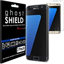 TECHGEAR [2 Pack] Screen Protectors to fit Samsung Galaxy S7 Edge [ghostSHIELD Edition] Genuine Reinforced Flexible TPU Screen Protector Guard Covers with Full Screen Coverage inc Curved Screen