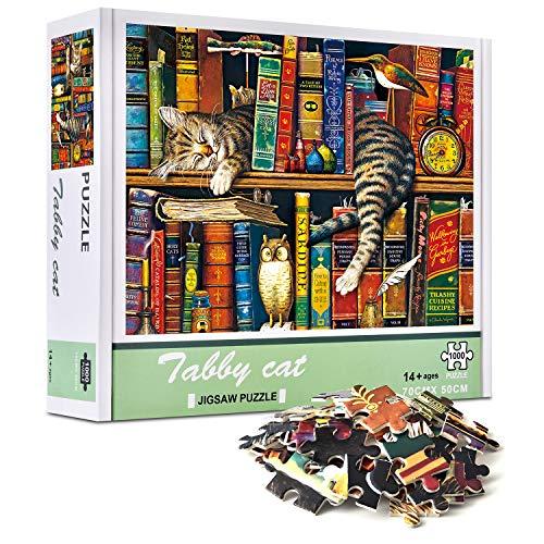 Puzzles 1000 Piezas para Actividades Familiares Juego de Puzzle para Niños Adultos - El Gato de Charles Key