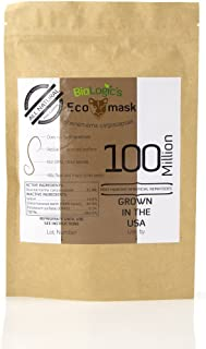 BioLogic All-Natural Pest Control Ecomask - 500 Million Steinernema carpocapsae (Sc) Beneficial Nematodes for Fleas, Armyworms, Cutworms and More - Pet, Plant and Family-Safe - USA Grown, Non-GMO