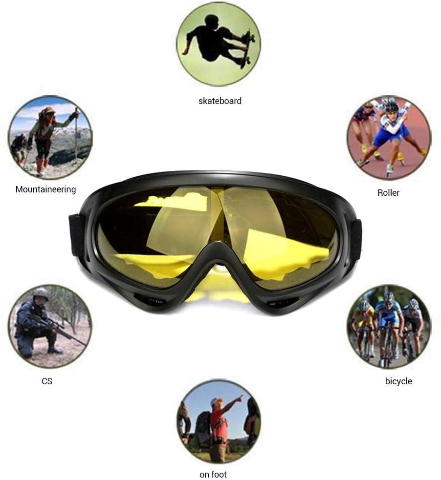 con banda el/ástica ajustable antiviento motos de nieve antiUV para ciclismo Eviktory antipolvo Gafas de esqu/í para exteriores