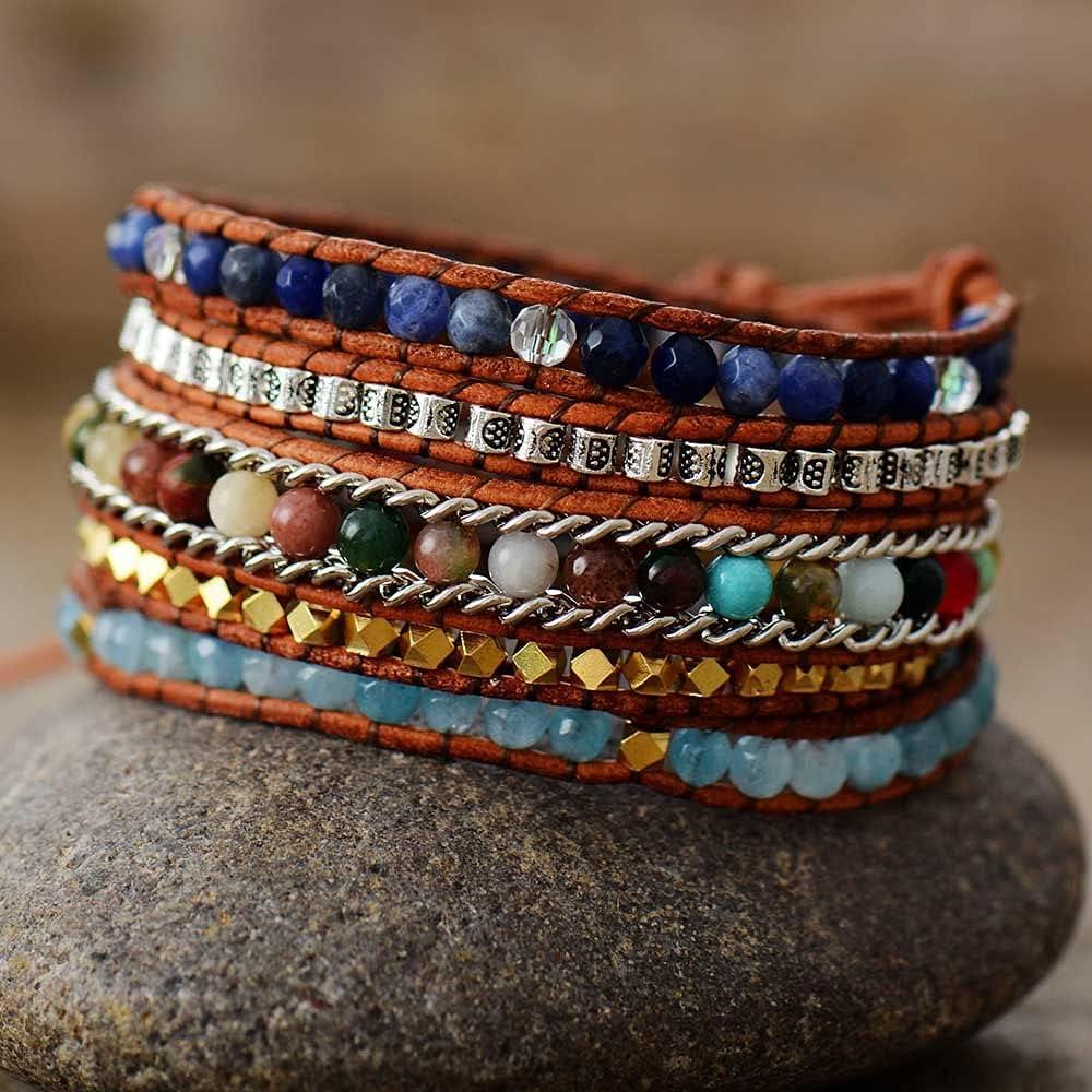 PHUONGDTB8888 - Handmade 5 Ultra-Cheap Deals Ranking TOP7 Strands Bracelet Vintage Leather Wrap