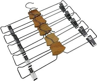 Bumerang Pants Hanger Skirt Hanger Set of 5 Chrome Plated