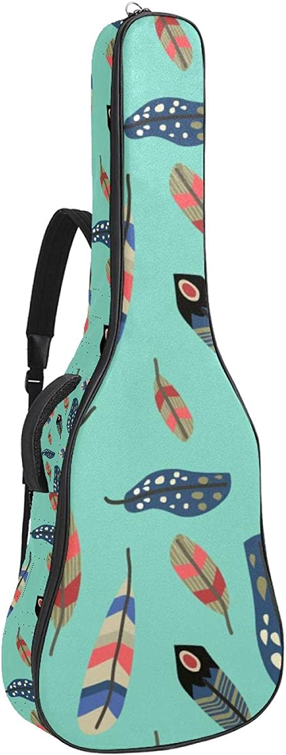 Ranking TOP18 Acoustic Guitar Bag Colorful Boho Pattern Limited time trial price Sho Feather Adjustable