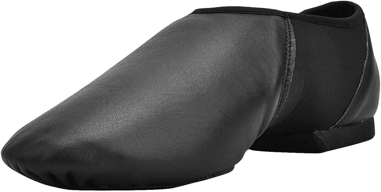 Dynadans Women's Leather Upper Slip-on Jazz Shoe