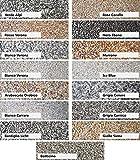 25Kg Steinteppich Set Marmorkies Bodenbeschichtung Nero Ebano Schwarz 4-8mm - 2qm - 5