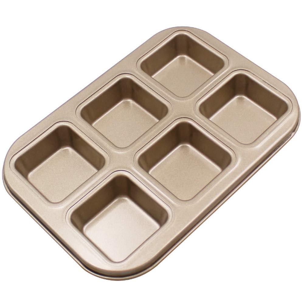 SKYyao Bandejas para hornos,Oro no manchado torta molde cuadrado horno plato especial paquete de 2 piezas: Amazon.es: Hogar