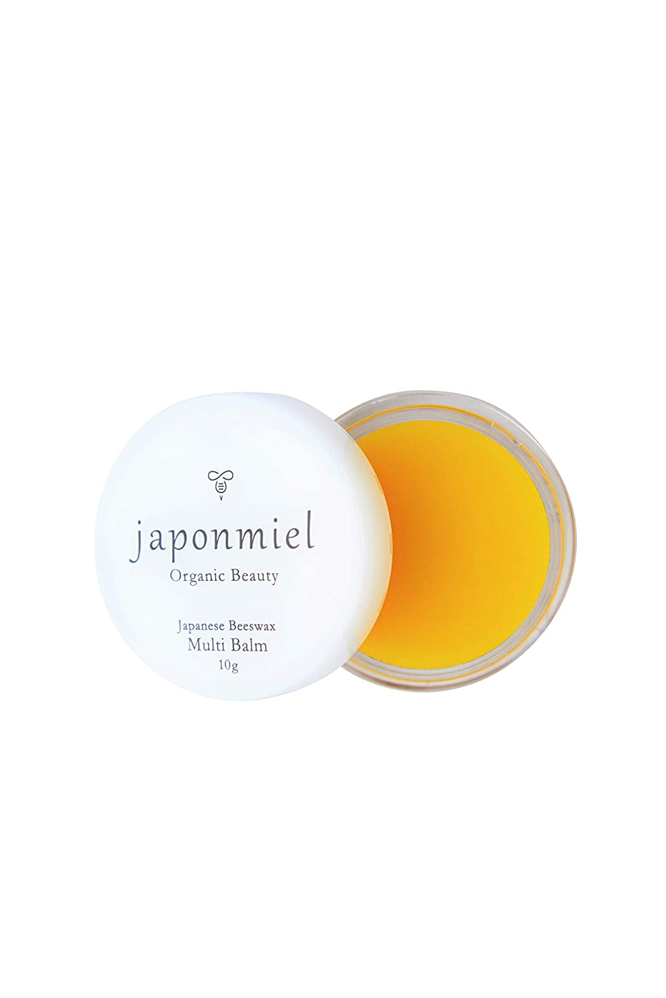 仕事に行くきつく祭りjaponmiel オーガニック マルチバーム 10g (日本ミツバチ ミツロウ 配合 100%自然由来)