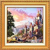 Disney ディズニー/トーマス・キンケード「美女と野獣2」作品証明書・展示用フック付キャンバスジークレ 【並行輸入品】