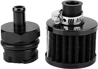 Valve Cover Breather House Billet Black Aluminum Valve Cover Oil Cap with Breather Fit for LS1 LS6 LS2 LS3 LS7