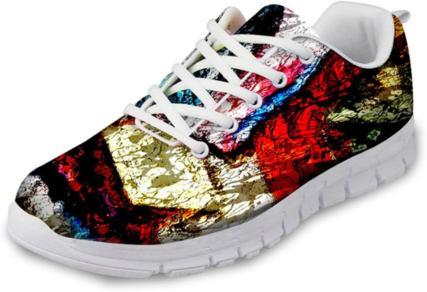 HUGS IDEA Bright color Women's Fashion Casual Running Sneakers