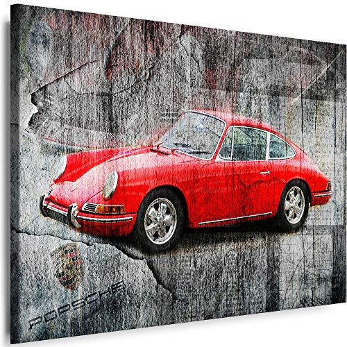 Myartstyle - Bilder Auto Porsche 60 x 40 cm Leinwandbilder XXL - 1 Teilige Wandbilder Sport Kunstdrucke w-a-2024-41