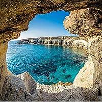 カスタム写真壁紙3D洞窟海景壁画モダンなリビングルームソファテレビ背景壁画壁紙家の装飾-350x250cm