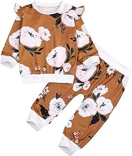 Yoveme My First Christmas 4Pcs Outfit Baby Girl Boy Clothes Romper+ Hat +Headband+ Deer Print Pants