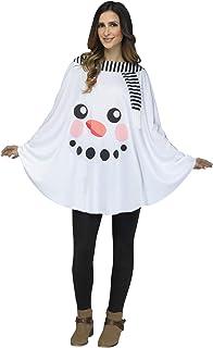Fun World Women`s Snowman Poncho Adult-as Shown-os, White, Standard