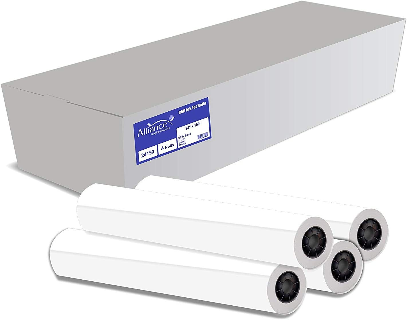 """Alliance Wide Format Paper 24"""" x 92 150' Bright Rolls CAD We OFFer at Sales results No. 1 cheap prices"""