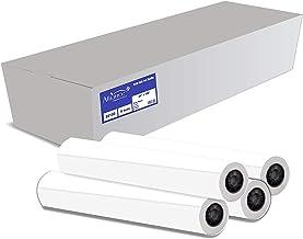 "Alliance CAD Paper Rolls, 24"" x 150`, 92 Bright, 20lb - 4 Rolls Per Carton - Ink Jet Bond Rolls with 2"" Core"