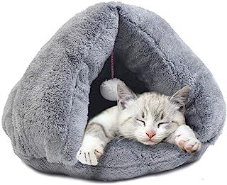 Varm kattbädd som en koja att krypa in i.
