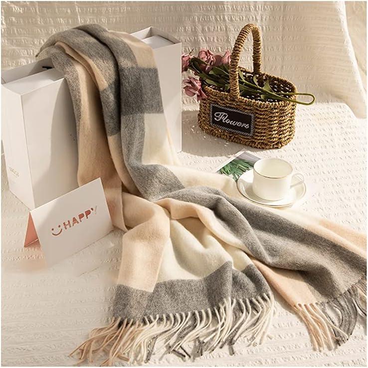 whl Cozy Warm Scarf Winter Warm Soft Cashmere Scarf 200 60cm Winter Shawl Wrap Scarf Spring Autumn Soft Cozy Scarves Shawl (Color : A)