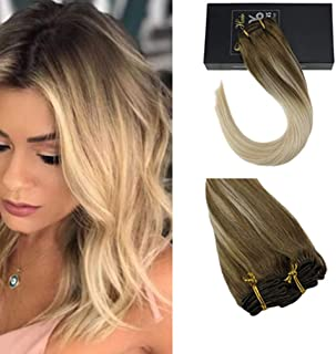 Sunny Clip in Hair 22 inch Blonde Clip in Hair Extensions Clip in Hair Extensions Human Hair Clip in Blonde Hair Extensions Light Brown and Platinum Blond Clip in 7pcs 120g