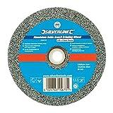 Silverline 280239 Meule en Oxyde D'aluminium pour Touret à meuler, Gris