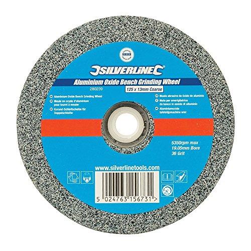 Silverline 280239 slijpsteen van aluminiumoxide, voor slijpmachine, grijs