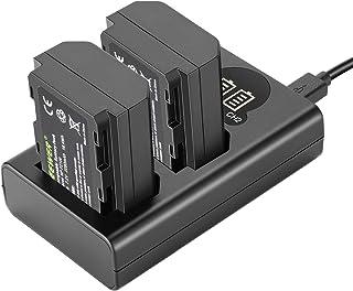 comprar comparacion Neewer NP-FZ100 Cargador Batería Reemplazo Set Cargador Batería Dual USB Pantalla LCD Compatible con Sony A9 A7III A7RIII ...