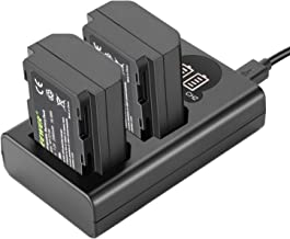 Neewer NP-FZ100 Replacement Battery Charger Set - Dual USB Battery Charger with LCD Display Compatible with Sony A9 A7III A7RIII Cameras (2-Pack 7.2V 2280mAh Battery, Versatile Charging Option)