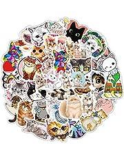 SJUNJIE TZ2080, vinyl stickers, schattige katten, unieke graffitistickers, kattenstickers voor doe-het-zelf decoratie, scrapbooking, dagboek, fotoalbum, handaccount, kalender, notitieboek, 80 stuks