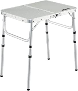 Sponsored Ad - REDCAMP Small Folding Table 2 Foot, Adjustable Height Lightweight Portable Aluminum Camping Table for Picni...