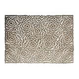 Wintop 13 inch×18.5 inch Rectangle Vinyl Placemat Hollow Out Design, Set of 6, Blooms Functional Mat for Dining Table Durable Non-Slip, Gold [並行輸入品]