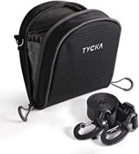 TYCKA Filters Pouch for Filters Up to 86mm, Belt Style Design Filter Bag, Removable Inner Lining Water-Resistant and Dustproof Design with Adjustable Shoulder Strap for 8 Filters