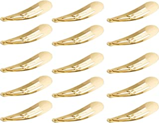 Motanar 50 Pack of Snap Hair Clips Hair Barrettes for Kids, Girls and Women, 50 mm (Gold)