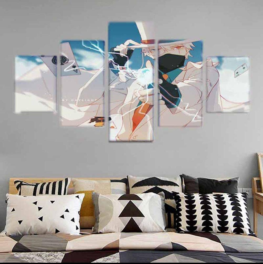 Canvas 5 Pieces Naruto Poster Painting Max 59% OFF Large-scale sale Wall for Home Art
