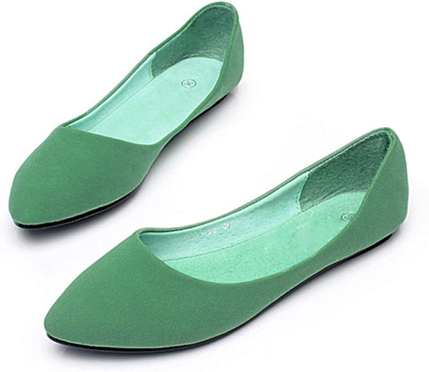 Baixa flats 2018 Autumn Classic Frosted Flat Flat shoes Fashion Flat with Women's shoes Shallow Mouth Pointed Large Size 35-41E976