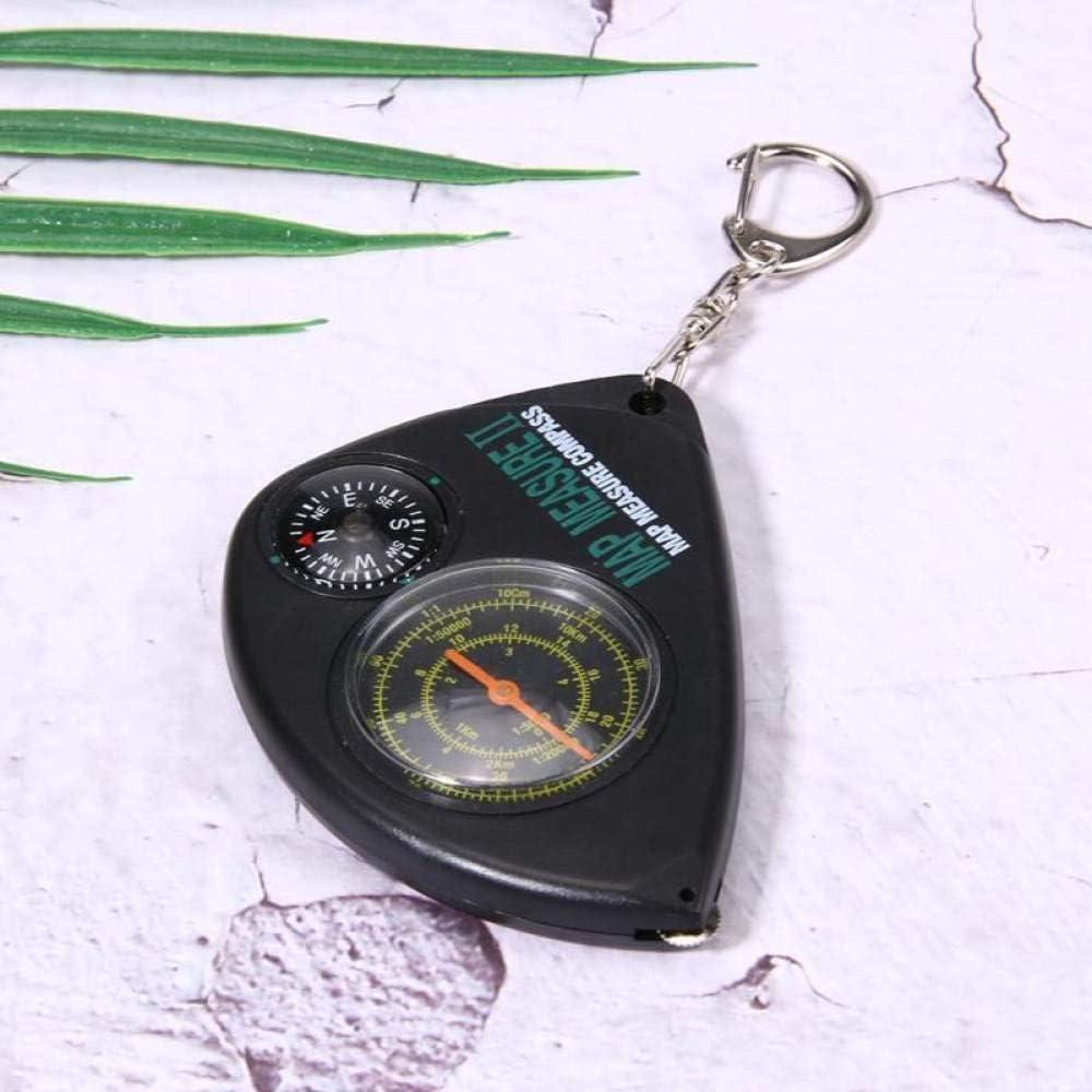 SDTLE 2 en 1 Compass Carte Mesureur Curvimeter Porte-cl/és pour la randonn/ée en Plein air Camping