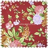 Möbelstoff Flora Eden Rose Bordeaux in Englisch Leinen